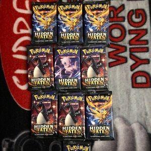 pokemon 10x hidden fates booster packs